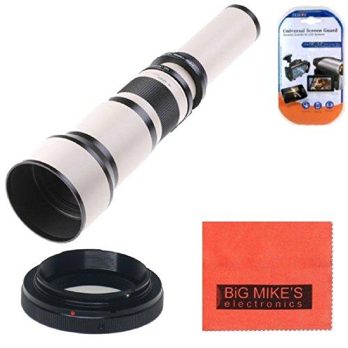 Long-Range 650Mm-1300Mm F/8 Telephoto Zoom Lens For Nikon D90, D3000, D3100, D3200, D3300, D5000, D5100, D5200, D5300, D7000, D7100, D300, D300S, D600, D610, D700, D800, D800E, D810 Digital Cameras