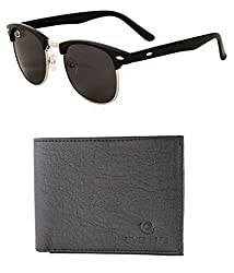 Aventus Combo of Black Clubmasters & Black Textured Wallet