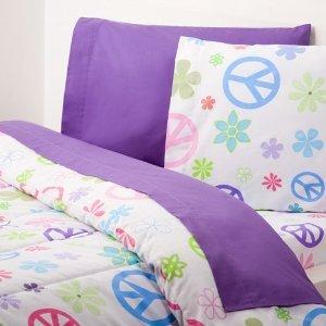 069069 Hello Kitty Bedding - Extra-Long Twin Sheet Set, Peace ...