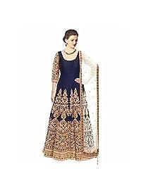 Khazanakart blue heavy embroidered bollywood style designer lehenga For Womens