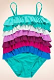 Square Neck Multi Frill Swimsuit [T77-2060-Z]