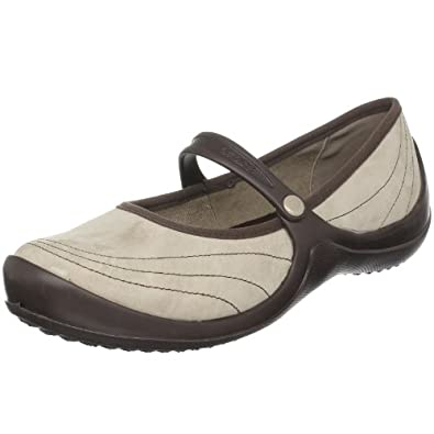 Crocs Women's Wrapped Mary Jane,Mushroom/Espresso,4 M US