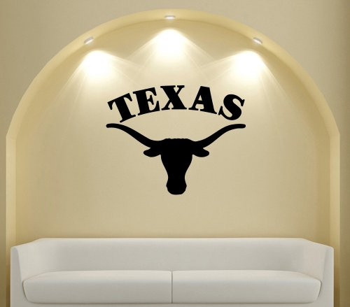 Ncaa Texas Longhorns Wall Vinyl Decal Sticker In Shop Garage Sport Team Logo City Da2372