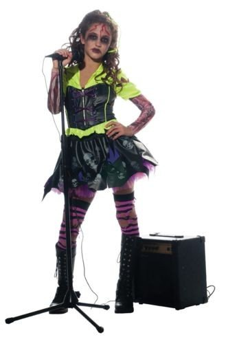 Girl Zombie Punk Rocker #3 Costume