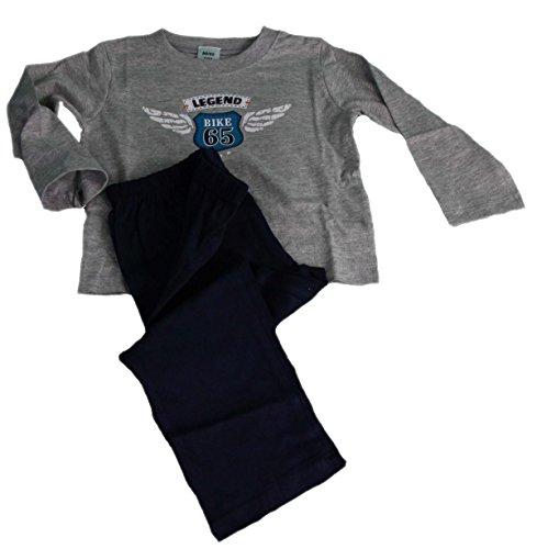 Jacky Jungen Schlafanzug, Classic Boys, Grau/Blau, 122/128, 580050