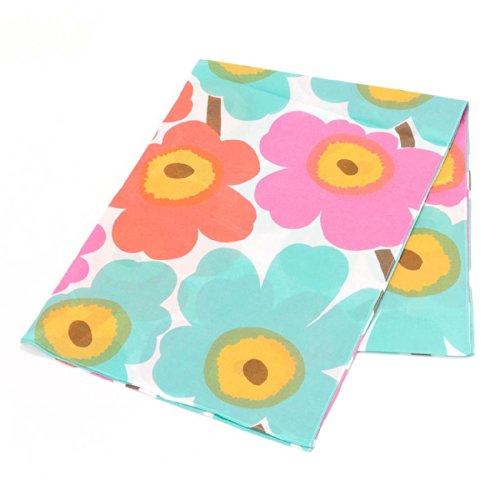 (マリメッコ) Marimekko 40921 UNIKKO SCARF ストール/スカーフ 173 White/Mint/Pink/Coral [並行輸入品]