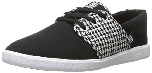 DC Women's Haven TX SE Skate Shoe, Black/White/Black, 8.5 M US