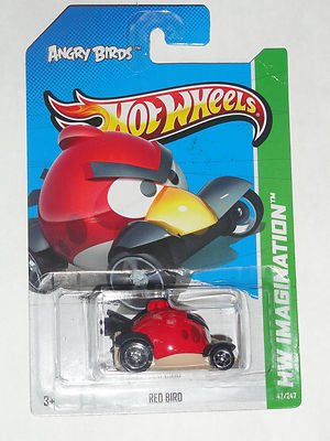 RARE ANGRY BIRDS HOT WHEELS RED BIRD VEHICLES 2013 - 1