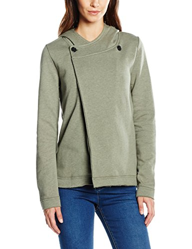 ONLY Onlfianto L/S Highneck Overlap Swt, Felpa Donna, Verde (Grape Leaf), 42