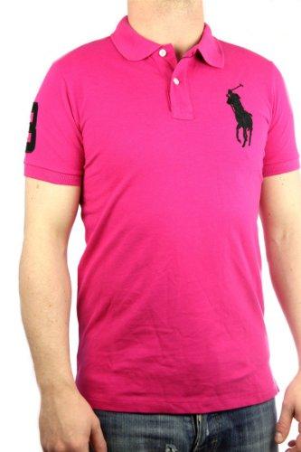 Polo by Ralph Lauren Big Pony Mens Polo-Shirt pink, slim fit, men shirt