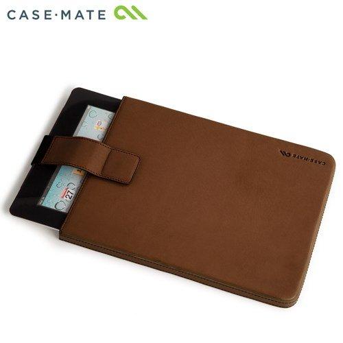 Case-Mate 日本正規品 iPad Retinaディスプレイモデル (第4世代) / iPad (第3世代) / iPad 2 対応 Leather Signature Sleeve Case, Brown 本革レザー シグネイチャー スリーブ ケース, ブラウン CM019682