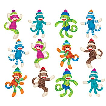 Trend Enterprises Inc. Sock Monkey Patterns Mini Accents