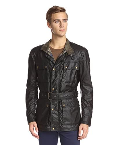 Belstaff Men's Roadmaster Belted Waxed Cotton Jacket
