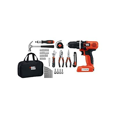 Black and Decker LDX172PK 7.2V Cordless Lithium-Ion Drill and Project Kit,