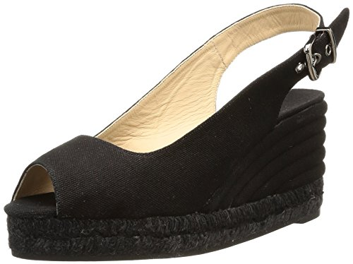 Castañer Odessa/6/Canvas 600 (Block) - Espadrillas da donna, 10 black, 40