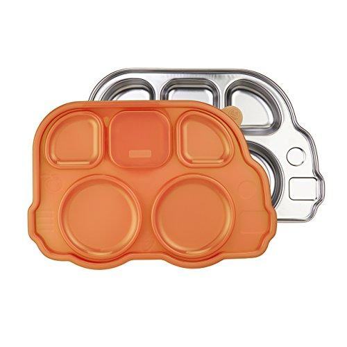 Din Din Smart Stainless Bus Platter with Lid / orange
