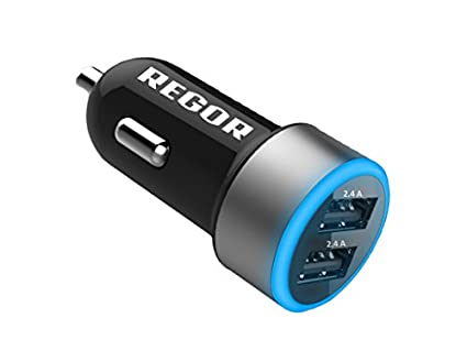 Regor 4.8A Dual USB Car Charger