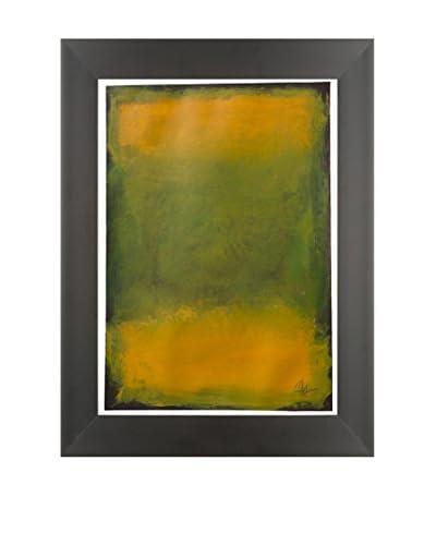 "Filippo Ioco ""Autumn Orange"" Original Hand Painted Acrylic On Paper"