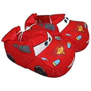 Lightning McQueen Toddler Slippers. Kids' Shoe Sizes (dual sizing). Disney Cars. United States Slip-resistant stippled fabric outsole. 13 / 1 7 5/8 - 7 15/16 - 11 / 12 7 - 7 1/4 -