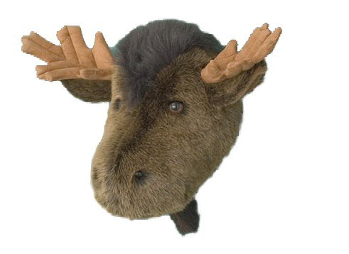 Moose Head Stuffed Animal Wall Mount Hunter Nursery - 1