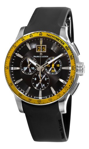 Maurice Lacroix Men's MI1098-SS051331 Miros Sport Black Chronograph Dial Watch