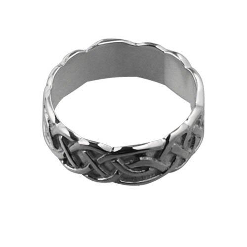 9ct White Gold 6mm Celtic Wedding Ring sizes I to Q