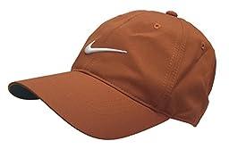 Nike Golf Hat Adult Unisex Adjustable Cap Dri-Fit Pumpkin White Swoosh