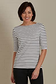 Fair Indigo Half Sleeve Fair Trade Organic Boat Neck Tee