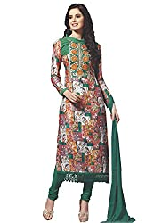 Cotton Printed Straight Cut Unstitched Suit