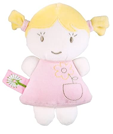 Dandelion Pink Organic Toy Baby Doll, Blonde