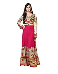 Yepme Women's Multi-Coloured Blended Lehengas - YPMLEHG0001_Free Size