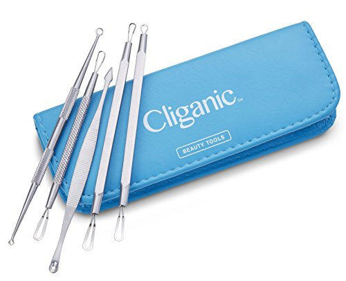 Cliganic-Blackhead-Remover-Kit-Comedone-Extractor-Tool-Whitehead-Blemish-Removal-Set-Professional-Dermatologist-Safe-Best-for-Facial-Acne-Pimples-Easily-Clean-Pores-Instructions-Included