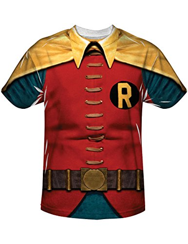 Robin The Boy Wonder Superhero Costume Look Sublimated T-Shirt