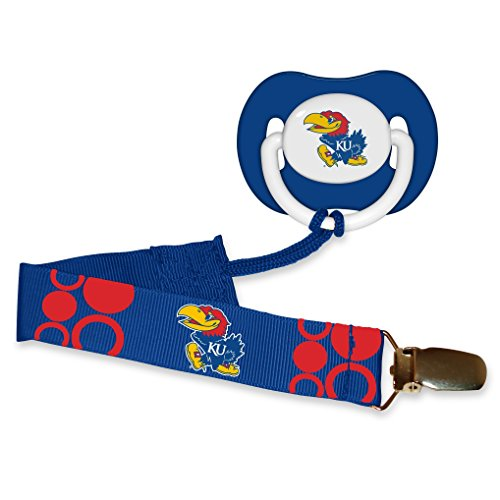 Baby-Fanatic-Pacifier-with-Clip-Kansas-University