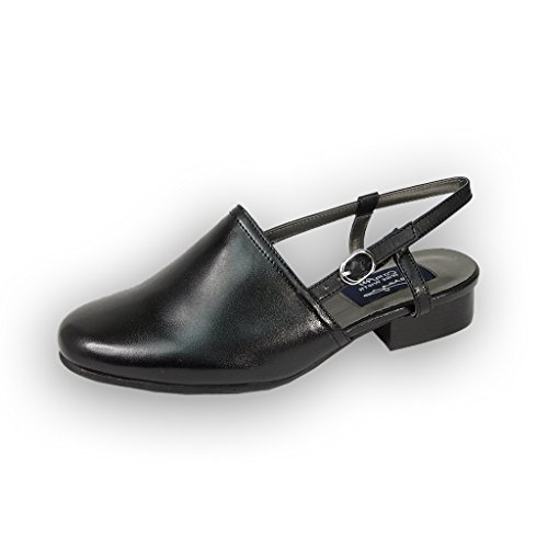 FIC PEERAGE Remi Women Wide Width Leather Heeled Sandal (Size & Measurement Guides Available)