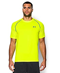 Under Armour Men's Short Sleeve Tech Tee, X-Large, High-Vis Yellow/Blue Jet/Blue Jet