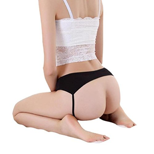 Generic Women Sexy Open Butt Backless Panties Thongs Lingerie Underwear (Black)