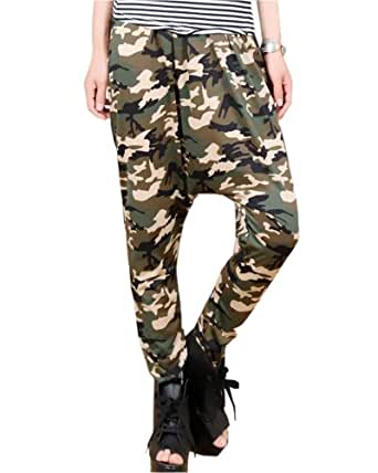 New  Camouflage Cargo Pants Women Army Fatigue Pants Loose Jeans Baggy