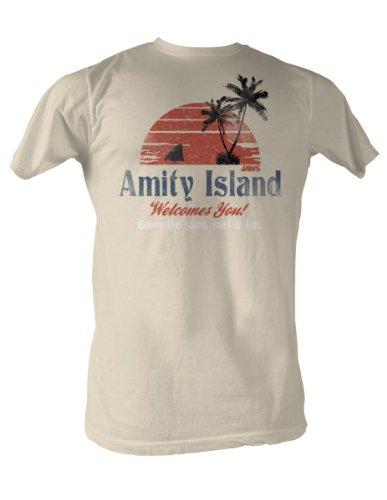 Jaws Amity Island Mens T-Shirt XXL