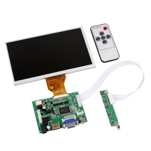 Tontec® 7 Inches Raspberry Pi Lcd Display Screen Tft Monitor At070Tn90 With Hdmi Vga Input Driver Board Controller