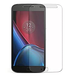 Febelo (TM) Branded Perfect Fitting Ultra Thin 2.5D Crystal Clear Curve Edge Bubble Free Tempered Glass Screen Protector For Moto G Plus 4th Generation