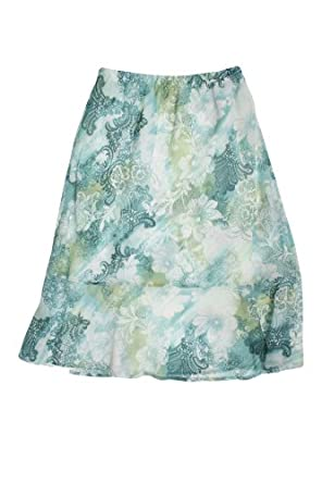 alfred dunner notting hill scroll floral ruffle skirt
