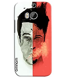 Omnam Man With Two Modes Printed Designer Back Cover Case For HTC One M8