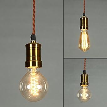 onepre vintage hanging pendant light retro pendant lighting kit