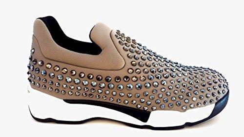 PINKO Gem 1 sneaker 1h2082 y2kp sneaker in neoprene - Beige, EUR 39