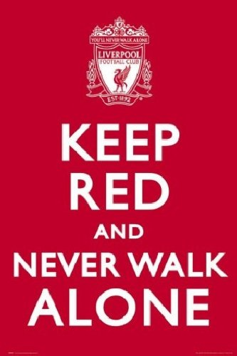 Posters: Soccer Poster – Liverpool, Keep Red (36 x 24 inches)