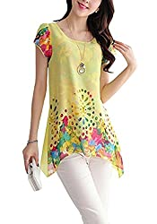 H K Sales Women's Top (102047_Yellow_Large)