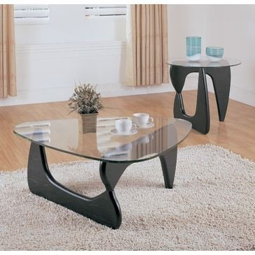 Homelegance Chorus 2 Piece Glass Coffee Table Set