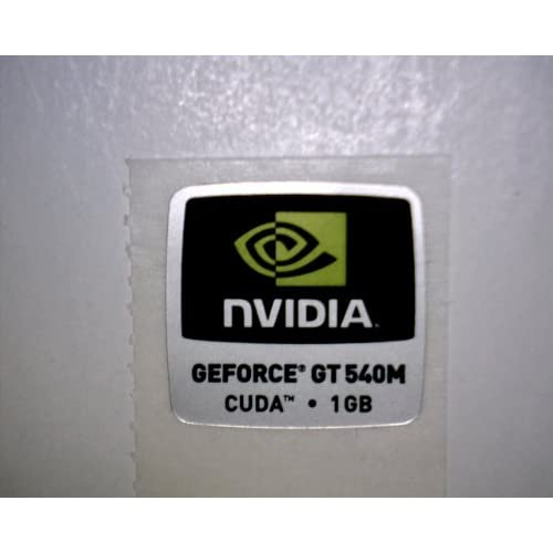 amazoncom nvidia geforce gt 540m cuda 1gb logo stickers