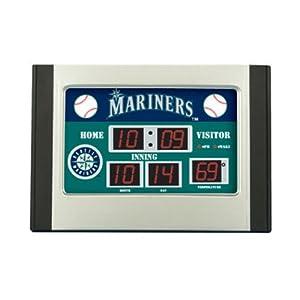 MLB Seattle Mariners Scoreboard Desk Clock by Team Sports America